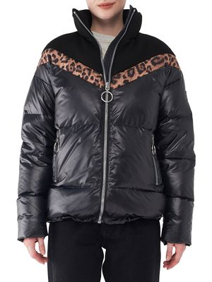 nvlt Mixed-Media Puffer Jacket