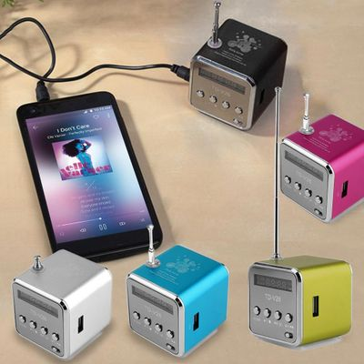 NEW Seller Recommend Portable Mini Support SD TF Card Micro USB Stereo Super Bass Speaker MP3/4 Music Player FM Radio Display IB