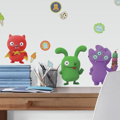 RoomMates Uglydolls Character Peel and Stick Wall Decals, Red, Green & Purple, Size Ranges 1.5 in x 1.5 in to 7.9 in x 12.1 in