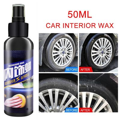 50ml Car Interior Exterior Dirt Multifuction Strong Removal Cleaner Seat Polish Wax Dashboard Surface Cleaner Car Accessories