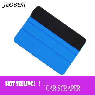 1PCS Car Vinyl Film wrapping tools Blue Scraper squeegee with felt edge size 99x72mm Car Styling Stickers Accessories TXTB1