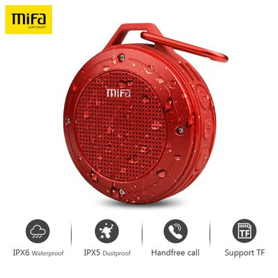 MIFA F10 Wirless Bluetooth Speaker Built-in mic Stereo IXP6 Water-proof Outdoor Speaker With Bass Mini Portable Speaker TF card