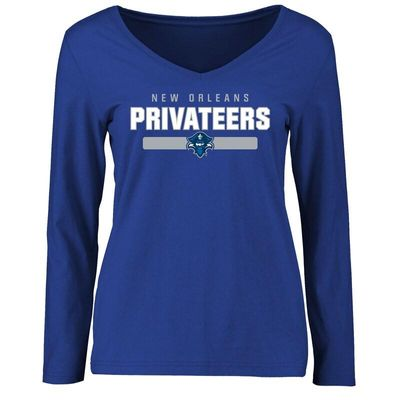 New Orleans Privateers Women's Team Strong Long Sleeve T-Shirt - Royal