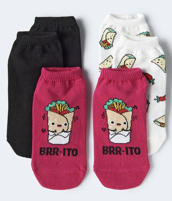 Aeropostale Brr-ito Ankle Sock 3-Pack