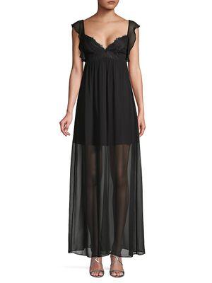 BCBGeneration Cap-Sleeve Maxi Dress