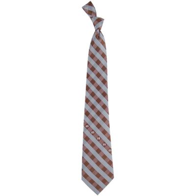 Mississippi State Bulldogs Woven Checkered Tie - Maroon/Gray