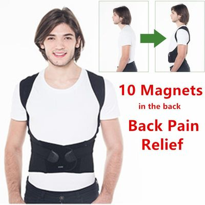 Magnetic Therapy Back Brace Posture Corrector Back Pain Relief Support Braces Men and Women Shoulder Lumbar Supports T174K03