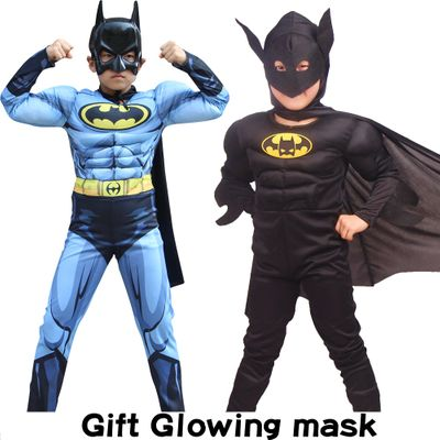 Halloween Carnival Muscle Batman Costumes Mask Cloak Movie Character Superhero Cosplay Masquerade Evening Superman Role dress up