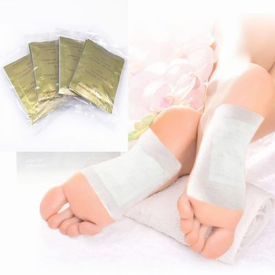 10 PCS Foot Pads Gold Kinoki Detox  Organic Herbal Cleansing Patches Detoxification Foot Pads Freeshiping and Dropship