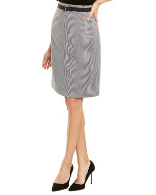 Sara Campbell Houndstooth Pencil Skirt