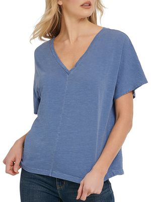 Dkny Jeans V-Neck Cotton Tee