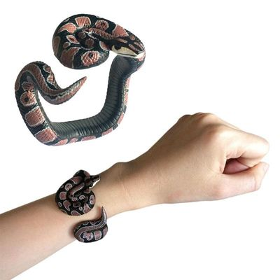 Funny Adjustable Simulation Snake Model Bracelet Toys Halloween Party Supplies Compact and Portable Carry Convenient