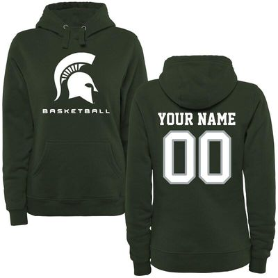 Michigan State Spartans Women's Personalized Basketball Pullover Hoodie - Green