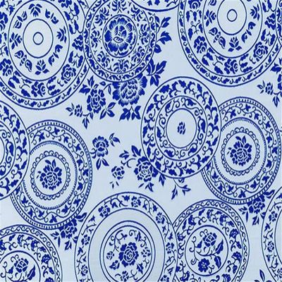 75x100cm Blue and White Porcelain Design Elegant Pattern Brocade Polyester Jacquard Fabrics for China Clothes