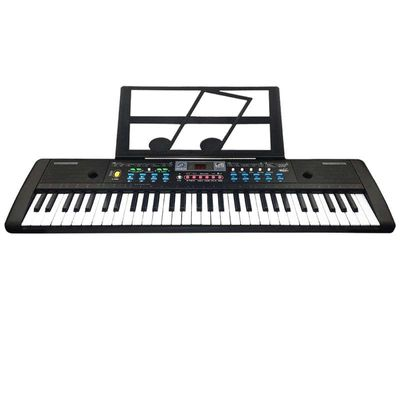61 Keys Digital Electronic Keyboard And Microphone Electric Led Music,Eu Plus
