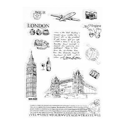 Tower of London Transparent Silicone Clear Stamp Cling Diary DIY Scrapbooking