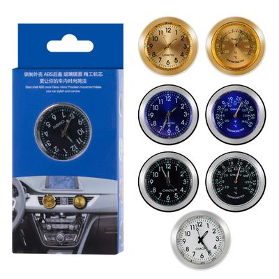 1PC Luminous 2 in 1 Car Dashboard Clock Air Vent Aromatherapy Quartz Clock Watch With Solid Auto Interior Accessories