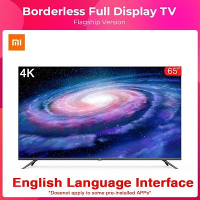 Original Xiaomi Tv 4  65inche Borderless Full Screen Real 4K HDR TV Set 2GB+16GB Memory AI Metal Body Voice Control Dolby Sound