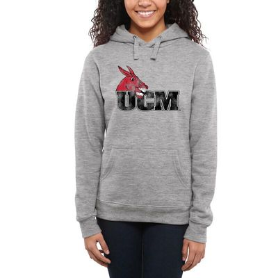 Central Missouri Mules Women's Classic Primary Pullover Hoodie - Ash -
