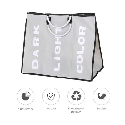 Laundry Basket Bin 3 Sections Large Dirty Clothes Hamper Sorter Toy Storage Washing Clothes Basket Dirty Clothes Hamper
