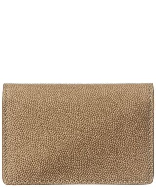 Burberry Grainy Leather Card Case On Chain