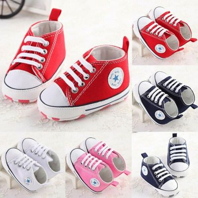 Hot Toddlers Baby Girls Boys Crib Shoes Newborn Baby Soft Sole Prewalker Sneakers Canvas Baby Shoes 3E30