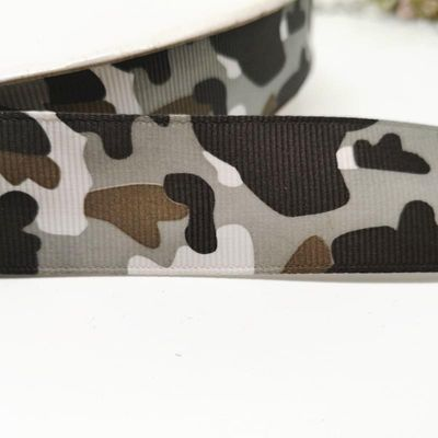 New 1'' (25mm) camouflag/butterfly pattern printed Grosgrain ribbon Cartoon Ribbon DIY hairbow gift wrapping garment accessory