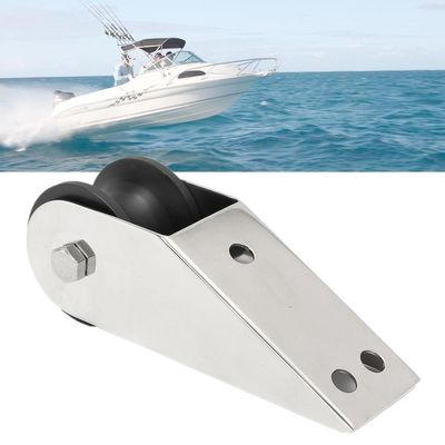 Boat Bow Anchor Rubber Roller 316 Stainless Steel For Fixed Marine Yacht Docking Surface Polishing/Welding Pre-drilled Holes