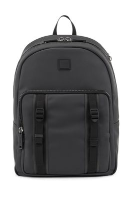 HUGO BOSS - Water Resistant Backpack In Matte Faux Leather