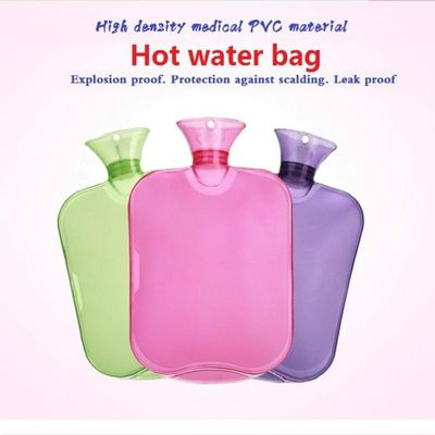 2000ml Water-filling Hot-water Bags Thick Water Bag Bottle Transparent Hot Water Bottles High Density PVC Explosion-proof Pouch