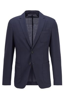 HUGO BOSS - Slim Fit Jacket In Virgin Wool With Patch Chest Pocket