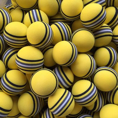 50pcs/bag  EVA Foam Golf Balls Hot new  Yellow/Red/Blue Rainbow Sponge Indoor golf Practice ball  Training Aid