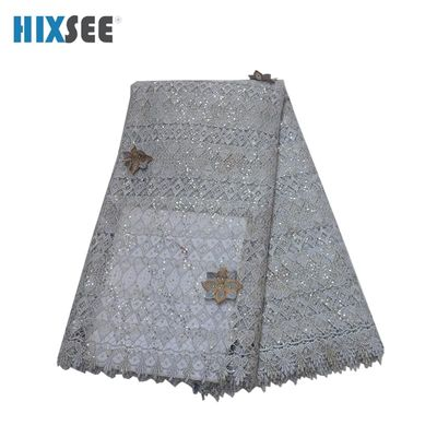 Special Discount Guipure Lace 1 Lot for 5 yards Lace Fabrics Net Lace High Quality with Shinning Sequins for African Women