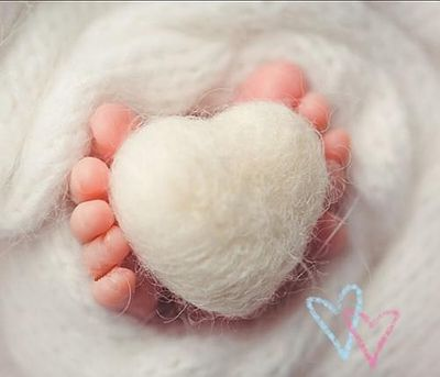 Heart wool handmade DIY bebe photography props accessories crafts materials accessories newborn photography props