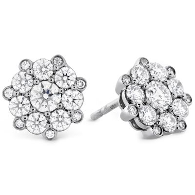 Beloved Cluster Diamond Stud Earrings 1.05-1.13ctw