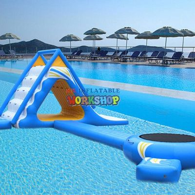 Air sealed floating stair inflatable water slide for sea lake,inflatable floating water equipments