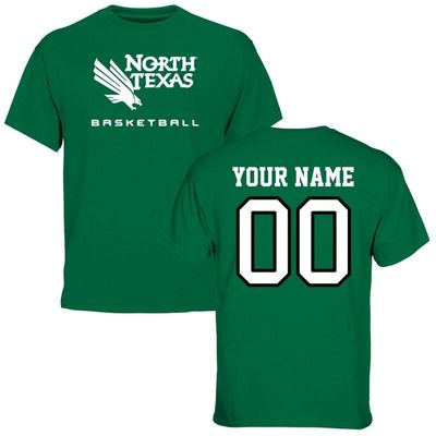 North Texas Mean Green Personalized Basketball T-Shirt - Kelly Green