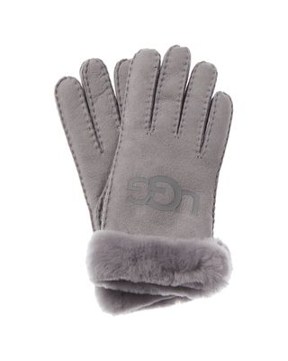 UGG Logo Suede Gloves