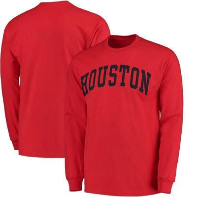 Houston Cougars Basic Arch Long Sleeve T-Shirt - Red