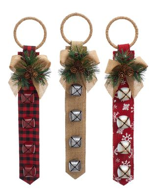 16.5in Snowflake Door Hanger With Bells