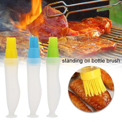 Environmental Oil Brush Tool Silicone Economic Baking BBQ Oiler Barbecue Pastry Oil Bottle Cake Kitchen Home Accessories