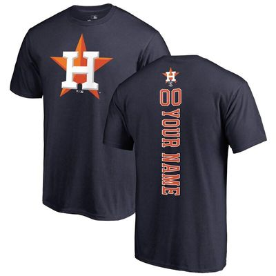 Houston Astros Fanatics Branded Personalized Playmaker T-Shirt - Navy