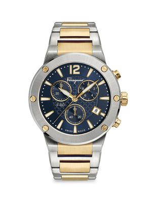 Salvatore Ferragamo Two-Tone Stainless Steel Chronograph Watch