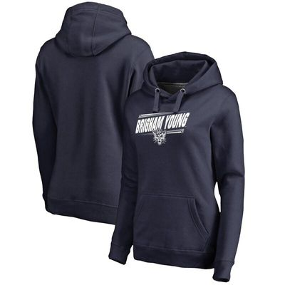 BYU Cougars Women's Double Bar Pullover Hoodie - Navy