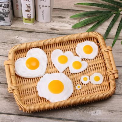 1PC Simulated Fried Egg Poached Eggs Fake Food Artificial Foods Children Play Toy Decoration Teaching Props Party Supplies