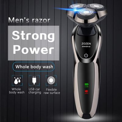 4D Electric Shaver Three Knives Washable USB Charging Shaver Electric Smart Razor Men's Multifunction Beard Trimmer Hair Trimmer