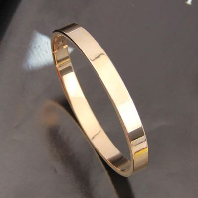 Ellipse Bracelets Bangles Jewelry Copper Lover Love Polished Cuff Bangle Bracelet Wrist Bracelet Jewelry for Men Women