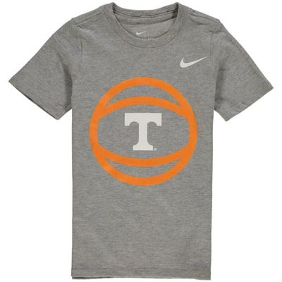 Tennessee Volunteers Nike Preschool Basketball and Logo T-Shirt - Heathered Gray