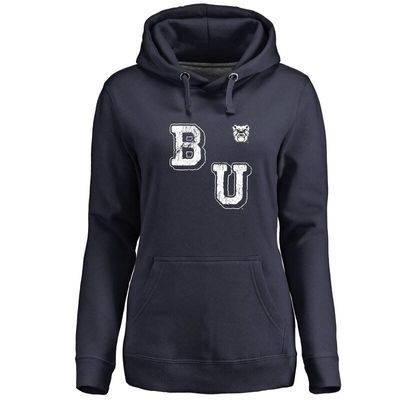 Butler Bulldogs Women's Acronym Pullover Hoodie - Navy Blue