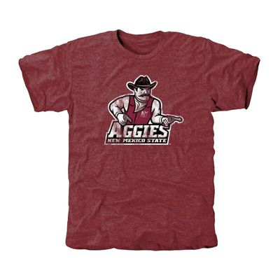 New Mexico State Aggies Classic Primary Tri-Blend T-Shirt - Garnet